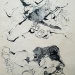 Dessin au feutre et à l'encre de chine sur papier japon 50x70 cm