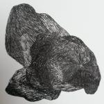 Dessin au feutre noir - 20x20 cm - 2017