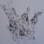 Souche - Feutre noir - 15x15cm - 2017