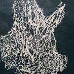 Souche - Bois gravé 40x30 cm - 2019