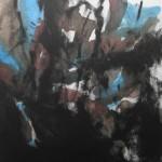 Forêt - Gravure au carborundum et contre-collage - 50x40cm - 2014