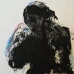 Gravure - Carborundum et crayons 15x15cm