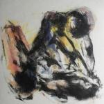 Gravure au carborundum et contre-collage