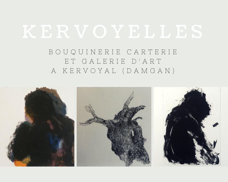 Kervoyelles bouquinerie / carterie et galerie d'art à Kervoyal (Damgan)